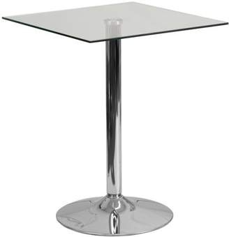 Flash Furniture 23.75'' Square Glass Table with 30''H Chrome Base