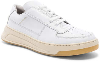 Acne Studios Perey Lace Up Sneakers in White & White | FWRD