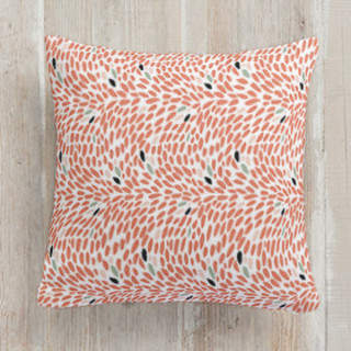 Red Fancy Fish Square Pillow
