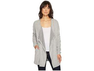 Bobeau B Collection by Delanie Rouched Sleeve Cardigan Women's Sweater