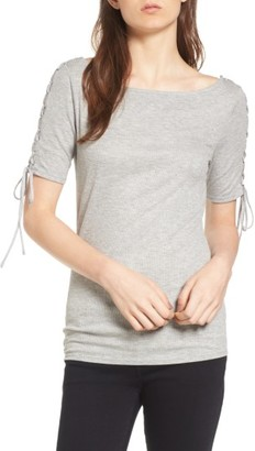 Women's Trouve Lace-Up Sleeve Top $49 thestylecure.com