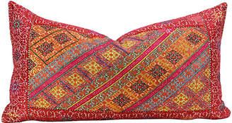 One Kings Lane Vintage Lohita Antique Swati Pillow - de-cor