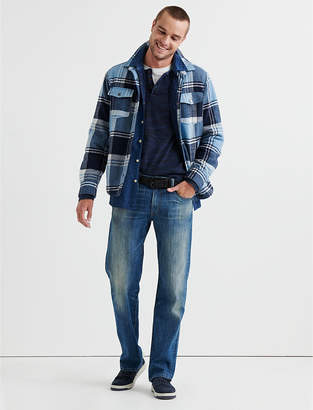 Lucky Brand SHERPA LINED PLAID SHIRT JACKET