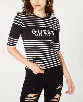 GUESS Striped Graphic T-Shirt