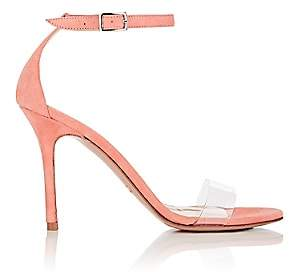 Barneys New York Women's Suede & PVC Ankle-Strap Sandals-Peach