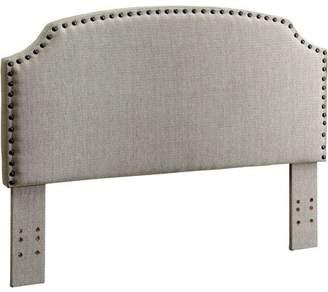 Furniture of America Mathilde Modern Corner Cutout Flannelette Fabric King Headboard, Multiple Colors