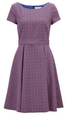 BOSS Hugo Wide-neck dress in colorful geometric pattern 4 Patterned
