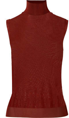Chloé Knitted Turtleneck Top - Burgundy
