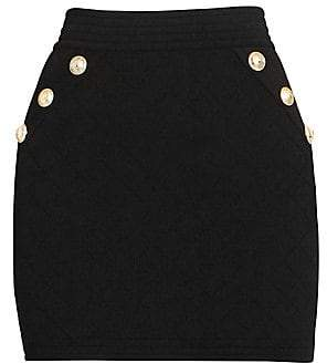Balmain Women's Knit Diamond Mini Skirt