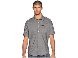 Sean John Short Sleeve Yarn-Dye Large Plaid Shirt Men's Short Sleeve Button Up