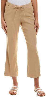 NYDJ Drawstring Linen-Blend Ankle Pant