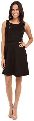 Jessica Simpson Scuba Fit and Flare with Turn Key Detail Women's Dress