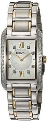 Bulova Women's Quartz Stainless Steel Casual WatchMulti Color (Model: 98R227)