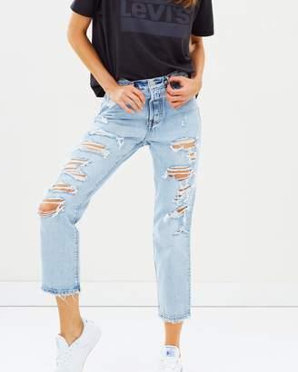 Levi's Shredded Wedgie Straight Jeans