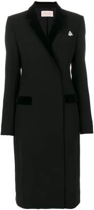 Christopher Kane velvet lapel tailored coat