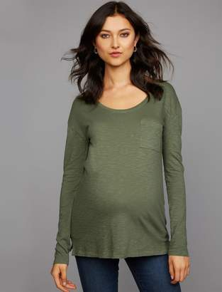 A Pea in the Pod Front Pocket Maternity T Shirt
