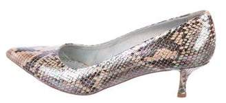 Stella McCartney Iridescent Pointed-Toe Pumps