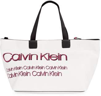 Calvin Klein Celia Embroidered Logo Tote