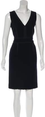 Christian Lacroix Knee-Length Wool Dress Black Knee-Length Wool Dress