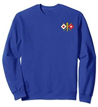 Army Signal Corps Branch Military Veteran Morale Sweatshirt
