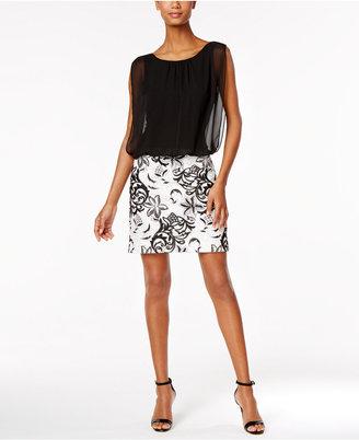 Calvin Klein Embroidered Blouson Dress $179 thestylecure.com