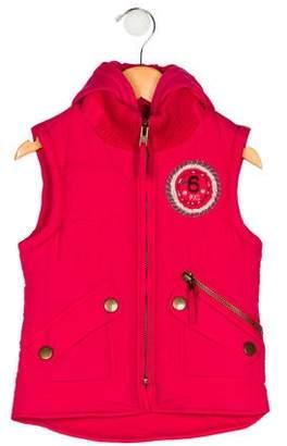 Ikks Girls' Hooded Vest