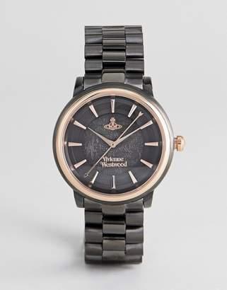 Vivienne Westwood Vv196gngn Shoreditch Bracelet Watch In Black