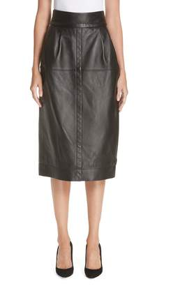 Marc Jacobs Leather Midi Skirt