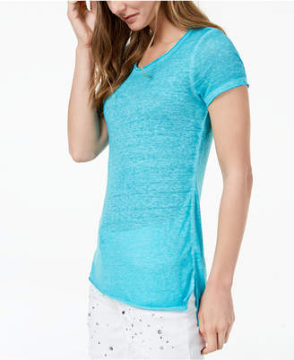 INC International Concepts I.n.c. Crew-Neck High-Low T-Shirt, Created for Macy's