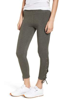 Sundry Lace-Up Ankle Leggings