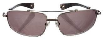 Chrome Hearts Boned Aviator Sunglasses