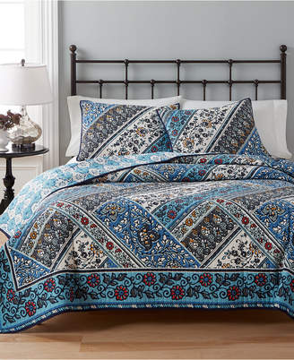 Martha Stewart Collection CLOSEOUT! Collection 100% Cotton Antique Market Reversible Full/Queen Quilt, Created for Macy's
