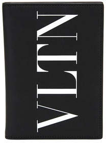 Valentino VLTN Leather Passport Wallet