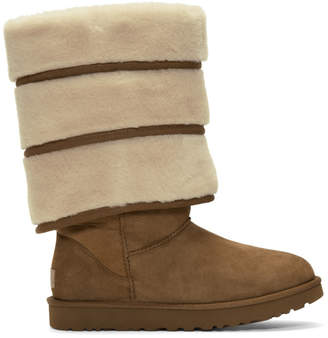 Y/Project Brown Uggs Edition Layered Boots