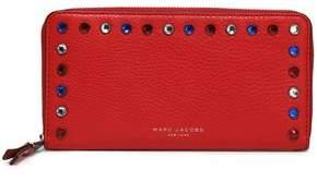 Marc Jacobs Crystal-Embellished Leather Wallet