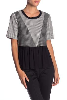 BCBGeneration Contrast Patched Top