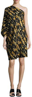 Zero Maria Cornejo Triptych Printed One-Shoulder Dress