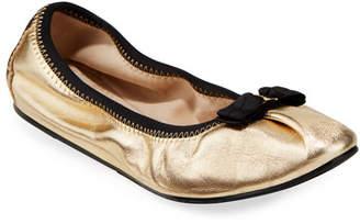 Salvatore Ferragamo My Joy Silky Leather Ballet Flats