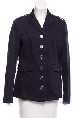 Burberry Notch-Lapel Button-Up Jacket