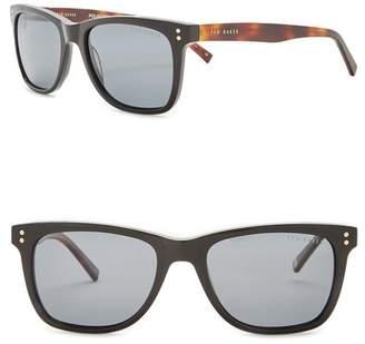 Ted Baker Men's 53mm Square Polarized Acetate Frame Sunglasses