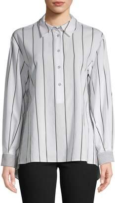 Diane von Furstenberg Desiree Striped Shirt