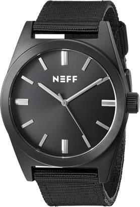 Neff Unisex NF0223BKBK Nightly Analog Display Japanese Quartz Black Watch