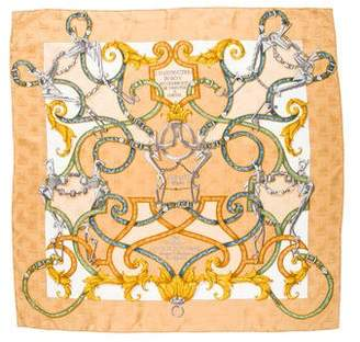 Hermes L'Instruction Du Roy Silk Jacquard Scarf