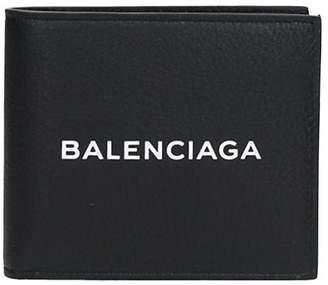 Balenciaga Black Leather Wallet