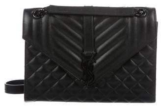 Saint Laurent Matelasse Medium Triquilt Monogram Envelope Flap Bag