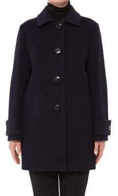 Cinzia Rocca Icons Wool-Blend Peacoat