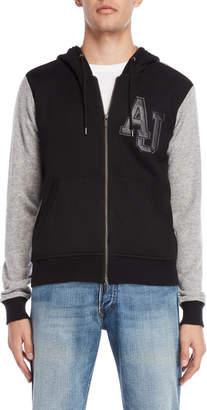 Armani Jeans Varsity Wool Zip-Up Hoodie