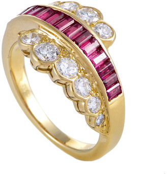 Van Cleef & Arpels Heritage  18K 2.00 Ct. Tw. Diamond & Ruby Ring