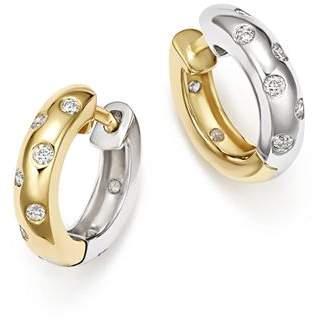 Bloomingdale's Diamond Reversible Huggie Hoop Earrings in 14K White & Yellow Gold, 0.33 ct. t.w. - 100% Exclusive