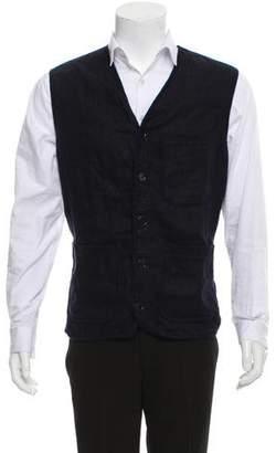 Paul Smith Linen Button Front Vest